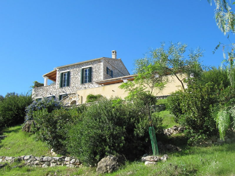 corfu villa rental above kassiopi villa sfakoi   tariff